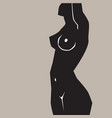 silhouette fat and slim girls vector image vector image