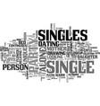 singles word cloud concept vector image vector image