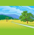 summer landscape with road vector image vector image