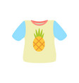 t-shirt with pineapple poster vector image