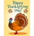 Thanksgiving Day turkey greeting card design vector image vector image