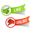 thumb up and down gestures vector image