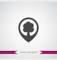 tree location icon simple vector image vector image
