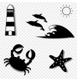 vacation icons collection for graphic web design vector image