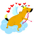 valentine day dog character dog in cupid or vector image vector image