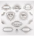 vintage burst shape decoration for typography vector image vector image