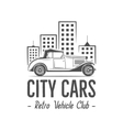 Vintage city car label design Classic auto badge vector image vector image