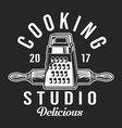 vintage cooking label template vector image vector image