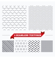 Waves stripped geometric seamless pattern vector image vector image