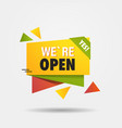we are open again after coronavirus quarantine vector image vector image