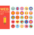 web universal flat business icons set design vector image vector image