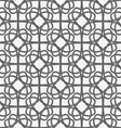 White geometrical ornament perforated with gray vector image vector image