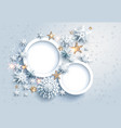 winter holidau frames vector image
