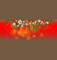 winter red invitation card vector image
