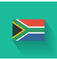 Flat flag of South Africa vector image