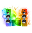 music abstract background with speakers vector image