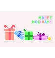 Happy Holidays gifts vector image
