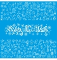 New year greeting cardLinear Iconstitle vector image