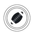 american football ball sport emblem outline vector image vector image