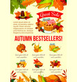 autumn sale banner of thanksgiving discount offer vector image vector image