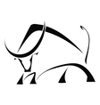 Black bull on a white background vector image vector image