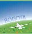 bogota flight destination vector image vector image