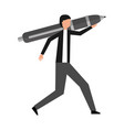 businessman with pen vector image vector image