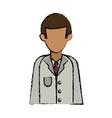 cartoon character doctor uniform health vector image vector image
