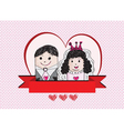 Cartoon hand drawn wedding couple wedding idea des vector image vector image