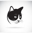 cat head design on white background pet vector image vector image