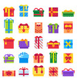 christmas gift winter festive presents secret vector image vector image