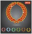 colored heraldry symbols vector image vector image
