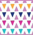 colorful grunge triangles repeat pattern vector image