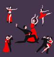 couples dancing latin american romantic person vector image vector image