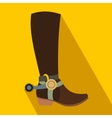 Cowboy boot flat icon vector image vector image
