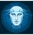 Cyber Head vector image vector image