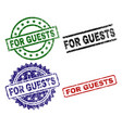 damaged textured for guests stamp seals vector image vector image