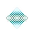 digital data tech electronic logo icon vector image vector image