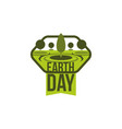 earth day green planet tree nature icon vector image vector image