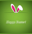 easter greeting card with rabbit ears vector image vector image