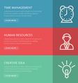 Flat design concept for management HR creative vector image