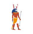 flat horus egypt god icon vector image
