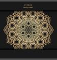 floral ornamental mandala design background henna vector image vector image