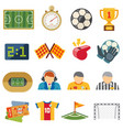 football sports flat icons soccer game vector image vector image