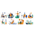 freelance people work at home in comfortable vector image vector image