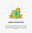 golden coins protection vector image vector image