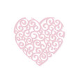 heart curl design element vector image vector image