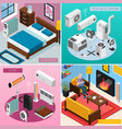 home climate isometric concept vector image