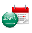 Icon of National Day in Saudi Arabia vector image vector image