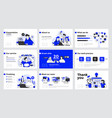infographics slide template design vector image
